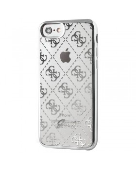 Guess 4G Transparent - Etui iPhone 8 / 7 (srebrny)
