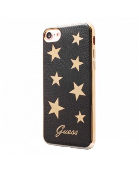 Guess Stars Soft Case - Etui iPhone 8 / 7 (czarny)