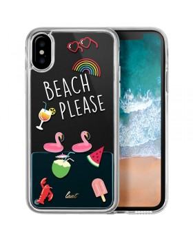 Laut POP BEACH PLEASE - Etui iPhone X z 2 foliami na ekran w zestawie (Beach please)