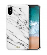 Laut HUEX ELEMENTS - Etui iPhone X z 2 foliami na ekran w zestawie (Marble White)